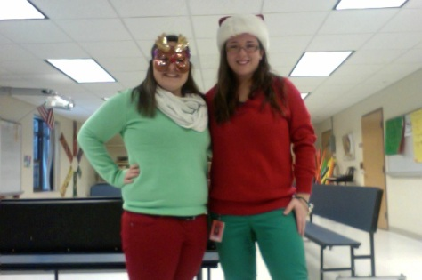 My Sister and I dressed up for the last day before holiday break!